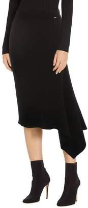 St. John Asymmetrical Rib Knit Skirt