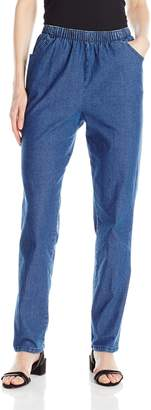 Chic Classic Collection Women's Stretch Elastic Waist Pull-on Pant