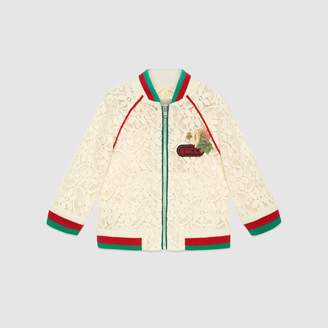 Gucci Baby flower lace bomber