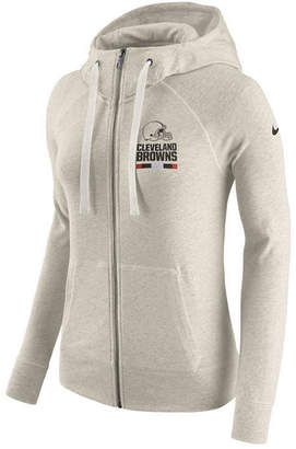 Nike Women's Cleveland Browns Gym Vintage Full-Zip Hoodie
