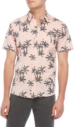 Ocean Current Slow Down Printed Short Sleeve Shirt