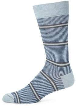 Saks Fifth Avenue COLLECTION Two Tonal Striped Socks