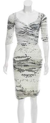 Chiara Boni Printed Knee-Length Dress w/ Tags