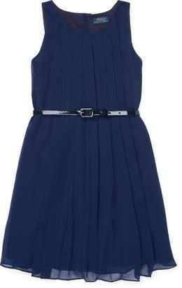 Ralph Lauren Pleated Chiffon Dress
