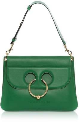 J.W.Anderson Emerald Green Leather Medium Pierce Bag