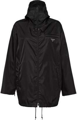 Prada Nylon gabardine caban jacket