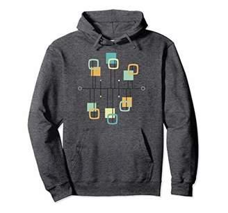 50s Mid Century Modern Geometric Pullover Hoodie Sweater