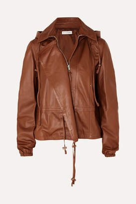 Altuzarra Livila Hooded Leather Jacket - Brown