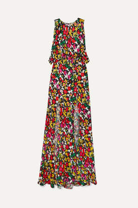 ATTICO Printed Jacquard Maxi Dress - Red