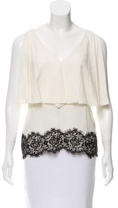 Derek Lam Lace-Accented Sleeveless Top
