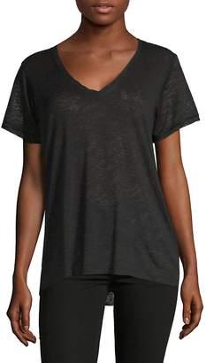 Project Social T Women's Satin Trim V-Neck T-Shirt