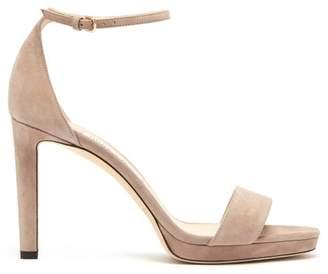 Jimmy Choo Misty 100 Suede Platform Sandals - Womens - Nude