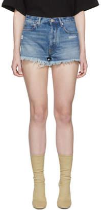 Off-White Indigo Denim Five-Pocket Shorts