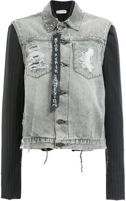 Faith Connexion contrast sleeve denim jacket
