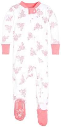 Burt's Bees Snuggle Bee Organic Baby Zip Up Footed Pajamas