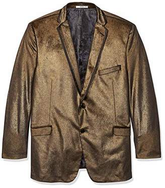 Adolfo Men's Big and Tall Sparkle Velvet Sport Coat