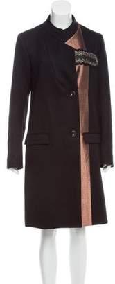 Maiyet Metallic-Paneled Wool Coat w/ Tags