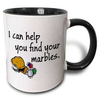 3dRose I can help you find your marbles. - Two Tone Black Mug, 11-ounce
