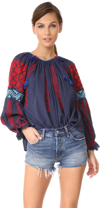 Ulla Johnson Mila Blouse $426 thestylecure.com