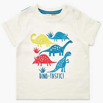 John Lewis & Partners Baby Dinosaur T-Shirt, Cream