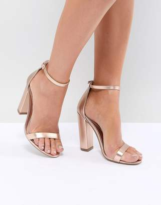 Missguided Strappy Block Heeled Sandal