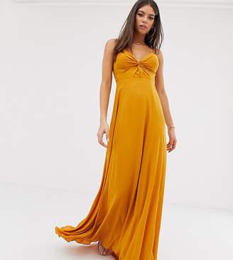 Asos Design DESIGN Tall cami maxi dress with knot front bodice