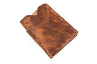 Popov Leather Men's Front Pocket Horween Leather Wallet - English Tan