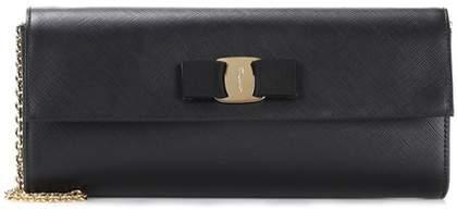 Salvatore Ferragamo Ginny leather clutch