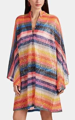 La Vie Style House Women's Sequined Mini-Caftan - Rainbow