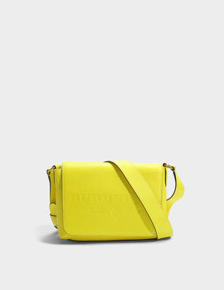 Burberry Small Burleigh Crossbody Bag in Neon Yellow Grained Calfskin