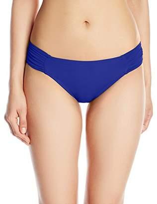 La Blanca Women's Island Goddess Shirred Side Hipster Bikini Bottom