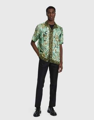 Dries Van Noten Short-Sleeve Shirt in Green Multi
