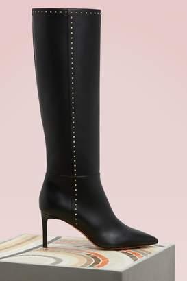 Valentino Studded Knee-High Boots