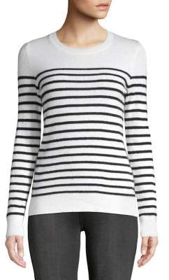 Lord & Taylor Striped Crewneck Cashmere Sweater