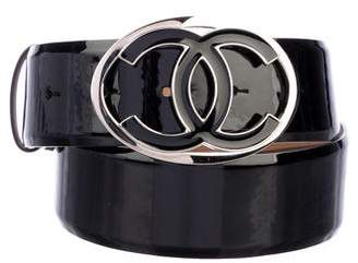 Chanel Patent Leather CC Belt