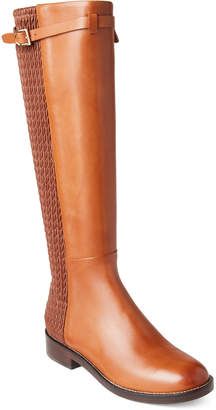 Cole Haan British Tan Lexi Grand Stretch Tall Boots