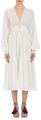 Ulla Johnson Women's Paulette Micro-Floral Cotton Maxi Dress $370 thestylecure.com