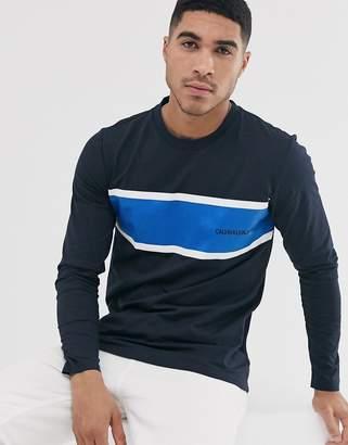 Calvin Klein Jeans institutional stripe long sleeve t-shirt