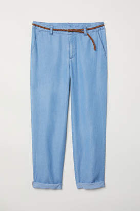 H&M Lyocell-blend Chinos - Blue