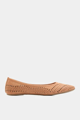 Ardene Cut Out Faux Leather Flats