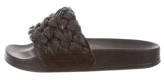 Rob-ert Robert Clergerie Raffia Slide Sandals