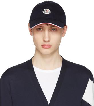 Moncler Navy Logo Baseball Cap $110 thestylecure.com