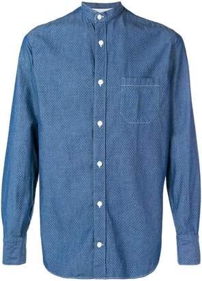 Eleventy mandarin collar shirt