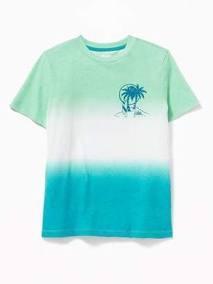 Old Navy Graphic Dip-Dye Tee for Boys