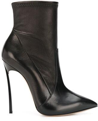 Casadei stiletto heel pointed toe boots