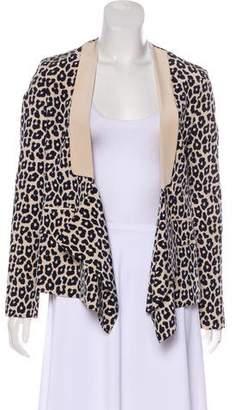 3.1 Phillip Lim Silk Leopard Print Blazer
