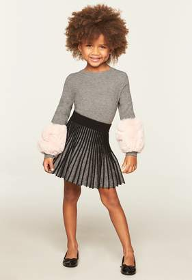 Milly Minis Faux Fur Pullover