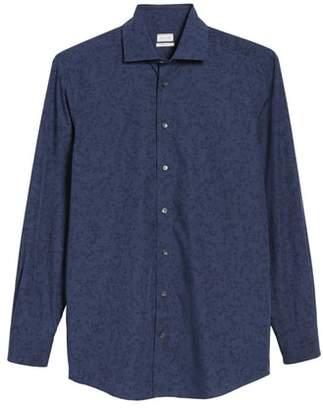 Luciano Barbera Slim Fit Print Dress Shirt