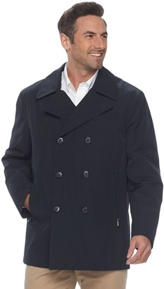 London Fog Heritage By Men's Heritage by All-Weather Double-Breasted Peacoat