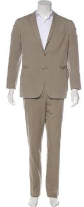John Varvatos Herringbone Two-Piece Suit Herringbone Two-Piece Suit